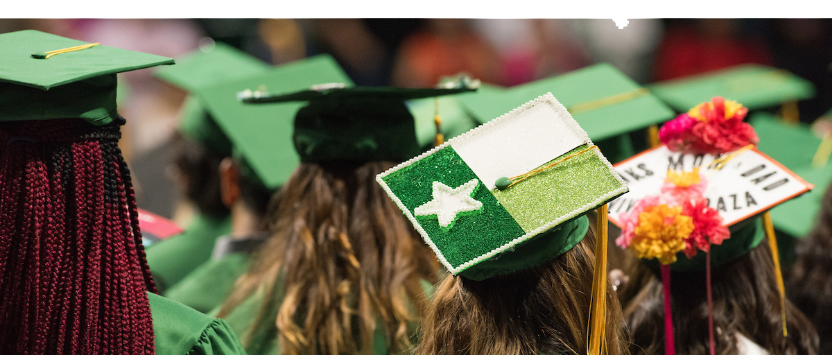 Commencement photo from UNT's graduation