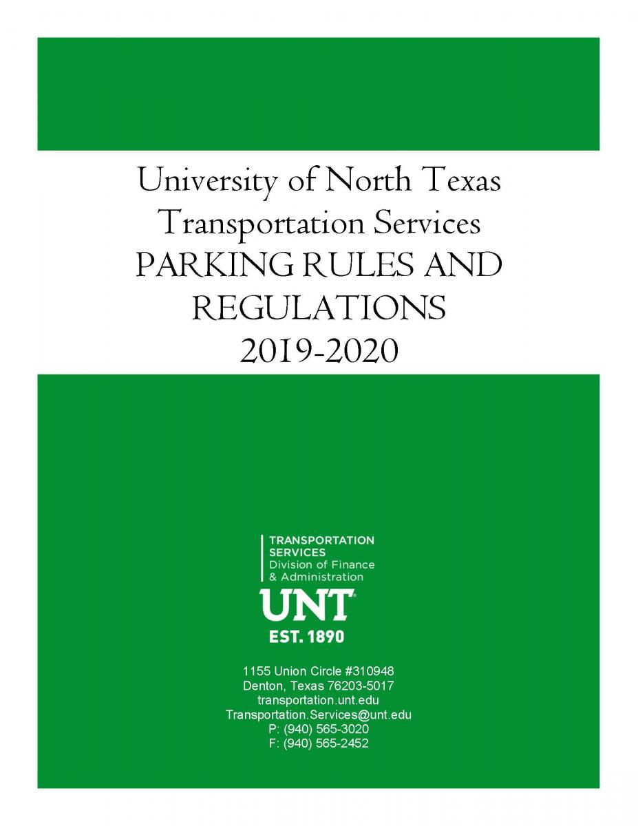 Cover image of the Rules and Regulation packet